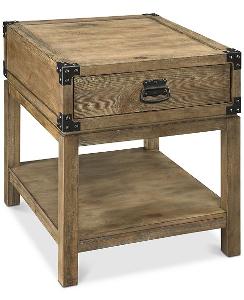Coast to Coast Carmel Trunk End Table, Quick Ship