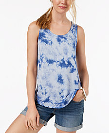 Hippie Rose Juniors' Tie-Dye Tank Top