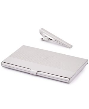 Image of the Gift Men's Tie Bar & Card Case Set