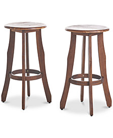 Malibu Outdoor Barstools (Set of 2), Quick Ship