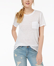 Hybrid Juniors' High-Low Burnout T-Shirt