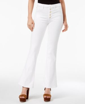 GILDED WHITE 1981 FLARED BUTTON-FLY JEANS