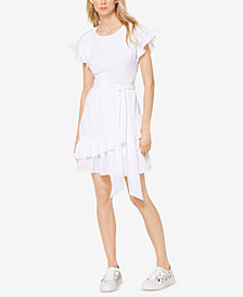 MICHAEL Michael Kors Ruffled Dress, Regular & Petite