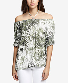 Sanctuary Printed Off-The-Shoulder Top