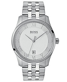 BOSS Hugo Boss Men's Master Stainless Steel Bracelet Watch 41mm