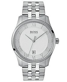 BOSS Hugo Boss Men's Master Stainless Steel Bracelet Watch 41mm
