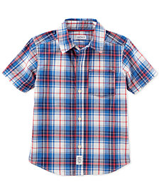 Carter's Woven Plaid Cotton Shirt, Little Boys