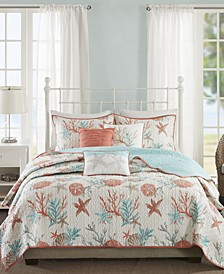 Pebble Beach 6-Pc. Full/Queen Coverlet Set