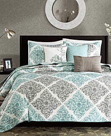 Claire 6-Pc. Quilted King/California King Coverlet Set
