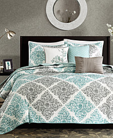 Madison Park Claire 6-Pc. Quilted Full/Queen Coverlet Set