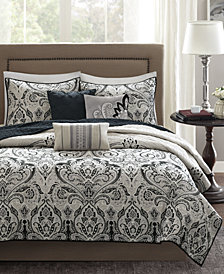 Madison Park Geneva 6-Pc. Quilted Full/Queen Coverlet Set
