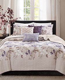Madison Park Luna 6-Pc. King/California King Coverlet Set
