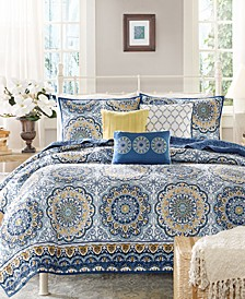 Tangiers 6-Pc. Full/Queen Coverlet Set