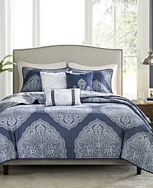 Rachel Reversible 6-Pc. Full/Queen Coverlet Set