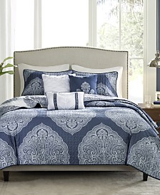 Madison Park Rachel 6-Pc. Reversible Coverlet Sets