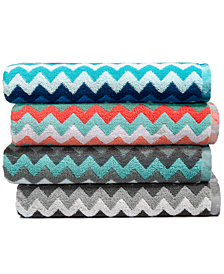 LAST ACT! Cobra Zig-Zag Cotton Jacquard Towel Collection