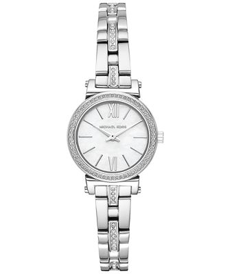 Michael Kors Women S Petite Sofie Stainless Steel Bracelet Watch