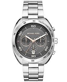 Michael Kors Men's Chronograph Dane Stainless Steel Bracelet Watch 43mm, Created for Macy's