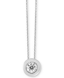 "Bubbles by EFFY® Diamond Bezel Frame 18"" Pendant Necklace (1/5 ct. t.w.)"