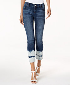I.N.C. Curvy-Fit Cropped Tie-Dyed Jeans, Created for Macy's