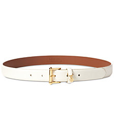 Lauren Ralph Lauren Logo-Charm Stingray-Embossed Belt