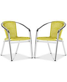 Baskot Accent Chair (Set Of 2), Quick Ship