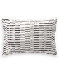 "Hotel Collection Interlattice Embroidered 14"" x 21"" Decorative Pillow, Created for Macy's"