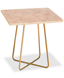 Deny Designs Dash and Ash Rose Bud Square Side Table