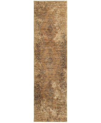 "Journey  Cava Gold 2'3"" x 8' Runner Rug"