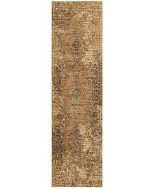 "Macy's Fine Rug Gallery Journey  Cava Gold 2'3"" x 8' Runner Rug"