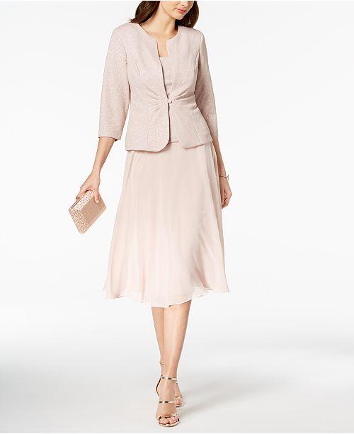 Alex Pale Jacket Midi Evenings amp; A Dress Line Blush Glitter Z0R8Zwqr