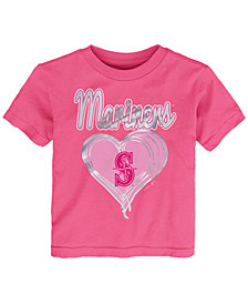 Outerstuff Seattle Mariners Unfoiled Love T-Shirt, Toddler Girls (2T-4T)