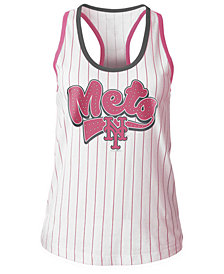 5th & Ocean New York Mets Pink Pinstripe Tank Top, Girls (4-16)