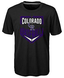 Outerstuff Colorado Rockies Run Scored Poly T-Shirt, Big Boys (8-20)