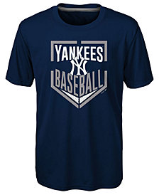 Outerstuff New York Yankees Run Scored Poly T-Shirt, Big Boys (8-20)