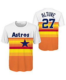 Outerstuff Jose Altuve Houston Astros Coop Poly Player T-Shirt, Big Boys (8-20)