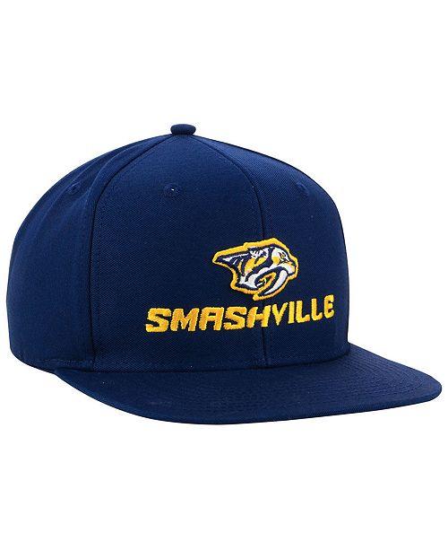adidas Nashville Predators Smash Snapback Cap - Sports Fan Shop By ... f1fc2e97edb6