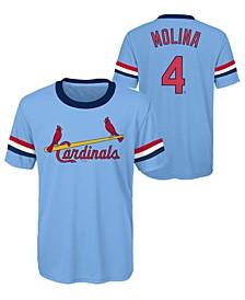 Yadier Molina St. Louis Cardinals Coop Poly Player T-Shirt, Big Boys (8-20)