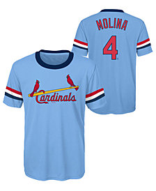 Outerstuff Yadier Molina St. Louis Cardinals Coop Poly Player T-Shirt, Big Boys (8-20)