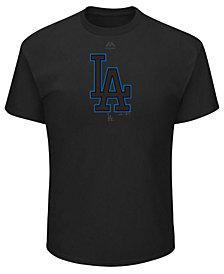 Majestic Men's Los Angeles Dodgers Pitch Black Focus T-Shirt