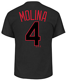 Majestic Men's Yadier Molina St. Louis Cardinals Pitch Black Player T-Shirt