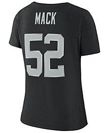 Nike Women's Khalil Mack Oakland Raiders Player Pride 3.0 T-Shirt