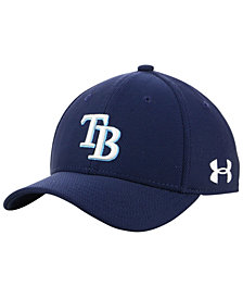 Under Armour Boys' Tampa Bay Rays Adjustable Blitzing Cap