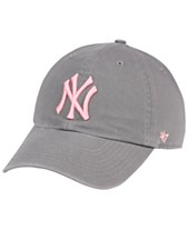 f8ec30631cfe6  47 Brand New York Yankees Dark Gray Pink CLEAN UP Cap
