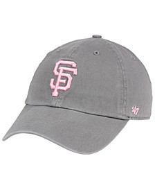 San Francisco Giants Dark Gray Pink CLEAN UP Cap