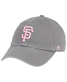 '47 Brand San Francisco Giants Dark Gray Pink CLEAN UP Cap
