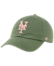 '47 Brand New York Mets Moss Pink CLEAN UP Cap