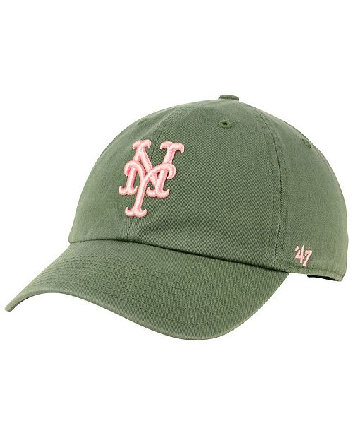 47 Brand New York Mets Moss Pink CLEAN UP Cap - Sports Fan Shop By ... 772114f4430e