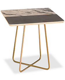 Deny Designs Kelly Haines Gray Square Side Table