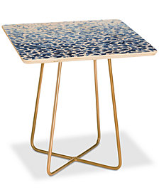 Deny Designs Madart Inc. Tropical Fusion Abstract Blues Square Side Table